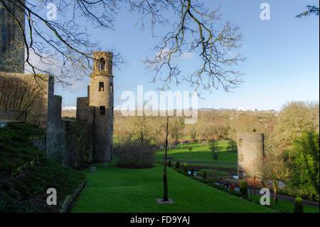 Ein Blick von Blarney Castle und Gärten, Cork, Irland. - Stockfoto