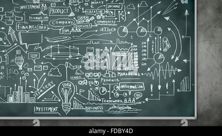 Hintergrundbild von Blackboard mit Wissenschaft Zeichnungen - Stockfoto