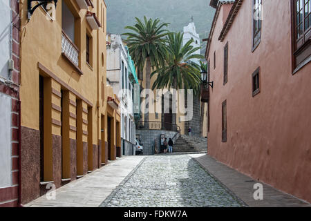 Straße in Garachico. - Stockfoto