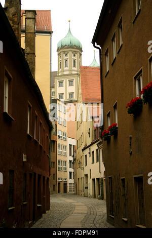 Gasse, Augsburg, Rathaus augsburg - Stockfoto