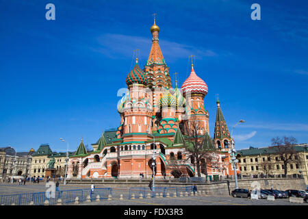 Basilius Kathedrale, Moskau, Russland. Foto am sonnigen Tag im April 2014 - Stockfoto