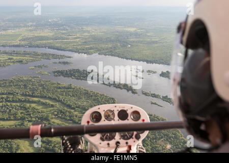 Microlight Flug, Victoria Falls, Sambia, Afrika - Stockfoto