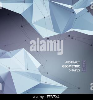 Abstrakte Dreiecke Raum low-Poly. - Stockfoto