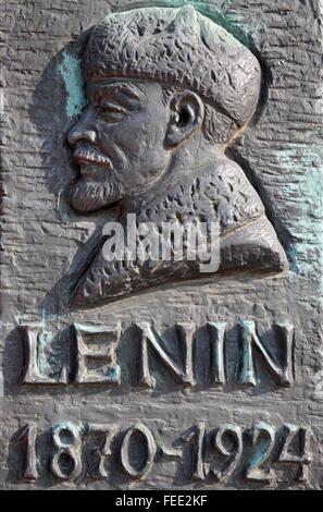 Lenin Plaque, Budapest, Ungarn - Stockfoto