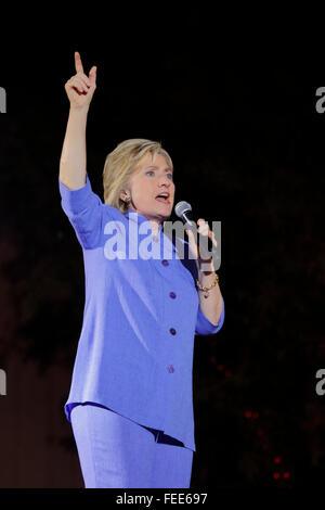 LAS VEGAS, NV - 14. Oktober 2015: Hillary Clinton, ehemaliger US-Außenminister und 2016 demokratischen Präsidentschaftskandidaten, - Stockfoto