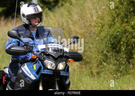 Der tur  Französische Polizei Motorrad Gendarmerie bei der Tur de France ...