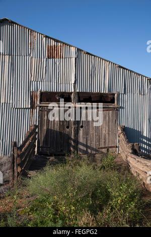 Die Überreste der Zanci Homestead Scheren Shed Lake Mungo National Park New South Wales Australia - Stockfoto