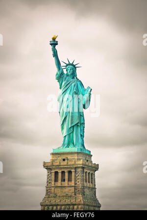 die Freiheitsstatue in New York city - Stockfoto