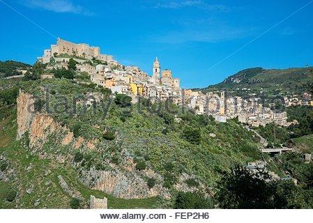 Caccamo Burg, Caccamo, Sizilien, Italien - Stockfoto