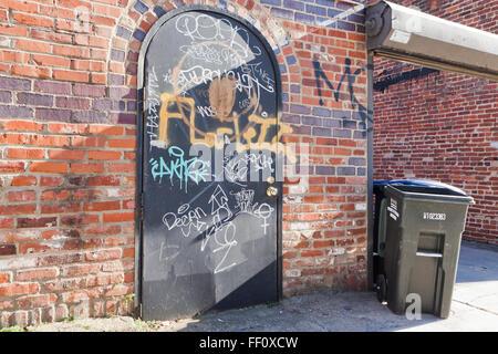 Graffiti an der Wand - Washington, DC USA - Stockfoto