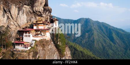 Paro Taktsang (Tiger Nest Kloster), Distrikt Paro, Bhutan, HimaRMayas, Asien Stockfoto
