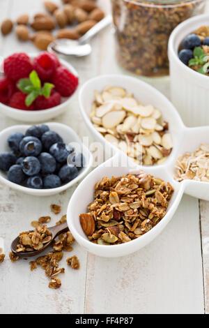 Frühstück auf dem Tisch - Stockfoto