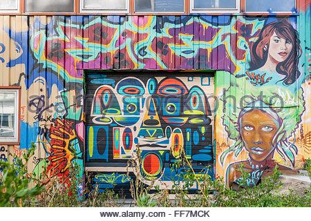 Graffiti - Streetart in Grenoble (Frankreich) - Stockfoto