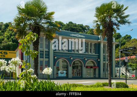 Art-Deco-Fire Station, Napier, Hawkes Bay, Neuseeland - Stockfoto