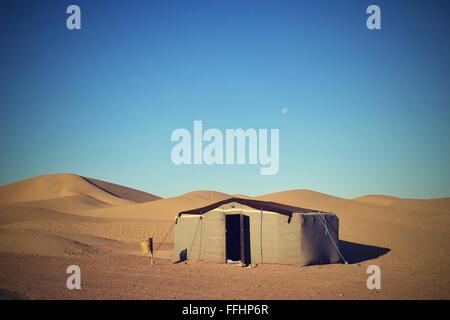Sandwüste Sahara in Marokko nahe Mhamid - Stockfoto