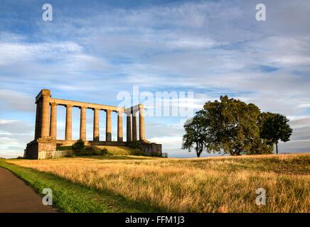 Römische Ruinen auf Calton Hügel in Ediburgh, Schottland - Stockfoto