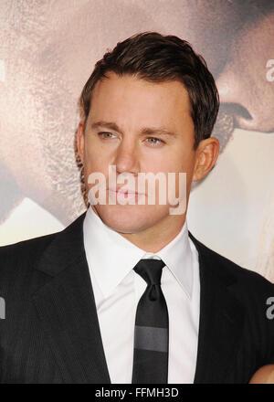 """Schauspieler Channing Tatum trifft am 2. Februar 2015 in Hollywood, Kalifornien, auf der """"Jupiter Ascending""""-Premiere - Stockfoto"""