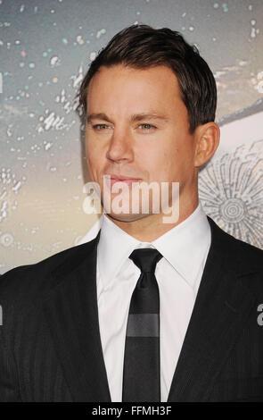 """Schauspieler Channing Tatum gelangt zur """"Jupiter Aufsteigend' Los Angeles Premiere auf TCL Chinese Theatre am 2. - Stockfoto"""