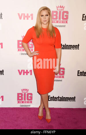 Schauspielerin Amy Schumer besucht VH1 Big In 2015 mit Entertainment Weekly Awards bei Pacific Design Center am - Stockfoto