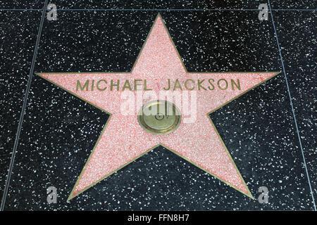 Jackson, Michael, 29.8.1958 - 25.6.2009, US-Musiker (Popsänger), Walk of Fame, Hollywood Blvd, Hollywood, Los Angeles, - Stockfoto