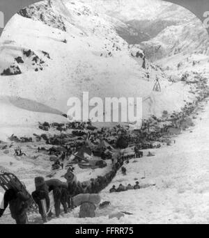 Klondike Gold Rush Chilcoot Pass 1898 Stockfotografie Alamy