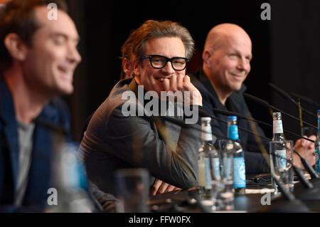 """Berlin, Deutschland. 16. Februar 2016. Colin Firth """"Genius"""" auf der Pressekonferenz bei der 66. Berlin International - Stockfoto"""
