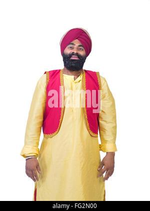 Sikh Mann in traditioneller Tracht Herr #779A - Stockfoto