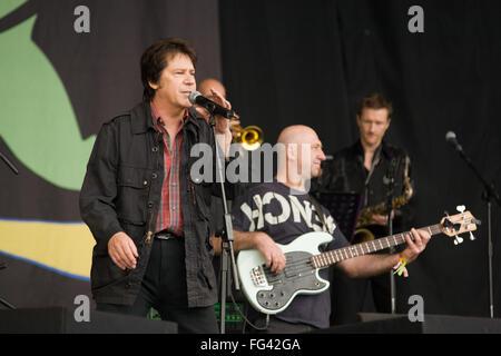 Shakin ' Stevens beim Glastonbury Festival 2008, Somerset, England, Vereinigtes Königreich. - Stockfoto