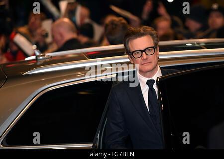 """Berlin, Deutschland. 16. Februar 2016. Colin Firth Teilnahme an der """"Genius"""" Premiere auf der 66. Berlin International - Stockfoto"""