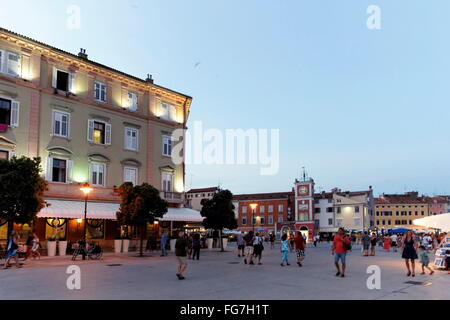 Geographie/Reisen, Kroatien, Istrien, Rovinj, Uferpromenade Obala Pina Budicina, Fontana Square, Additional-Rights - Stockfoto