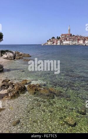 Geographie/Reisen, Kroatien, Istrien, Rovinj, Blick von St. Katarina, Additional-Rights - Clearance-Info - Not-Available - Stockfoto