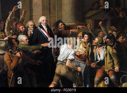 Akt des Mutes von Monsieur De Fontenay, Bürgermeister von Rouen, 29. August 1792 Louis Léopold Boilly 1761-1845 - Stockfoto