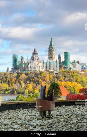 Blick über den Ottawa River - Stockfoto
