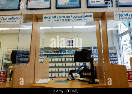 Miami Beach Florida Walgreens Apotheke Drogerie im Zähler verschreibungspflichtige Medikamente Medikamente - Stockfoto