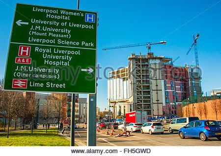 Carillion construction, das neue Royal Liverpool. Der Bau des neuen Royal Hospital. Der Bau von carillion wird erwartet, - Stockfoto