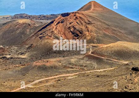 San Antonio Vulkan Santa Cruz La Palma Spanien - Stockfoto