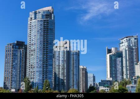 Moderne Appartementhäuser in Vancouver, BC, Kanada. - Stockfoto