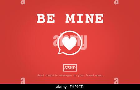 Mine Valantine Romantik Herz Liebe Leidenschaft Konzept - Stockfoto