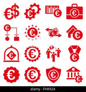 Euro Banking-Geschäft und Service-tools-Symbole - Stockfoto