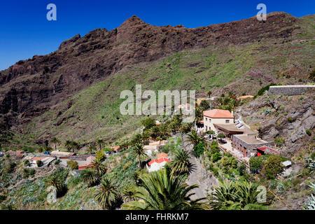 Masca des Teno-Massivs, Teneriffa, Kanarische Inseln, Spanien - Stockfoto