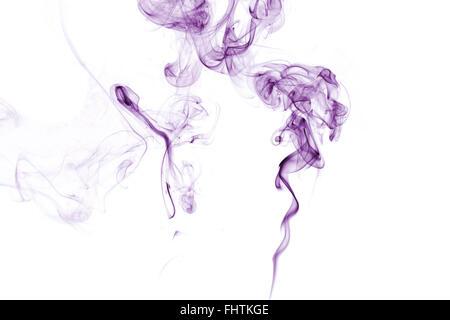 lila rauch isoliert auf weiss stockfoto bild 92084982 alamy. Black Bedroom Furniture Sets. Home Design Ideas