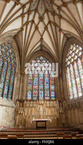Wells Cathedral Lady Chapel. Wells, Somerset, England - Stockfoto