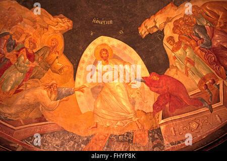 14. Jahrhundert gemalt Wandbild von Jesus Leben an der Decke des KARIYE CAMII - weltweit feinsten byzantinische - Stockfoto