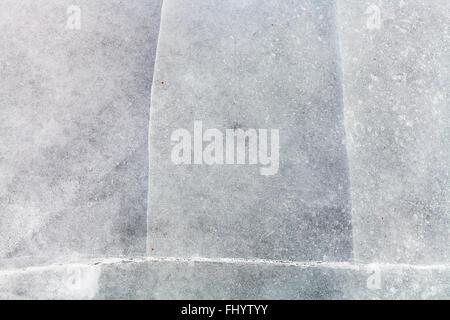 natürlichen Hintergrund - Oberfläche der Eisblöcke auf zugefrorenen Fluss in kalten Wintertag - Stockfoto