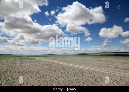 Mongolei atemberaubende Landschaften aus total grün und Leere - Stockfoto