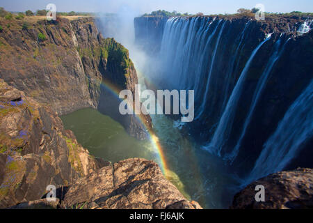 Viktoriafälle, Welt-Natur-Erbe, Sambia, Victoria Falls National Park - Stockfoto
