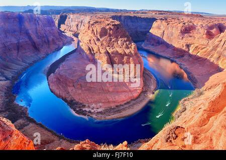 Horse Shoe Bend, Colorado River in Page, Arizona USA - Stockfoto