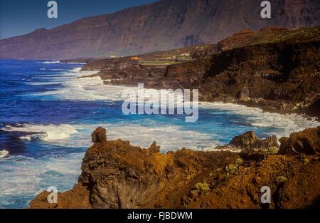 Küste im El Golfo Tal, El Hierro, Kanarische Inseln, Spanien, Europa - Stockfoto