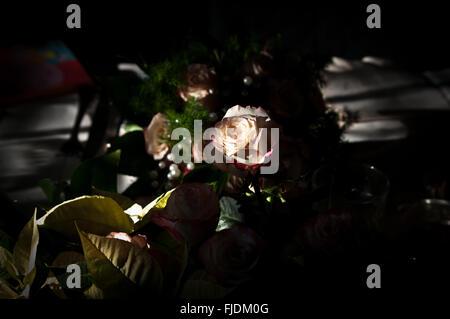 ein schönen Strauß Rosen hellt Ihre besten Tag - Stockfoto