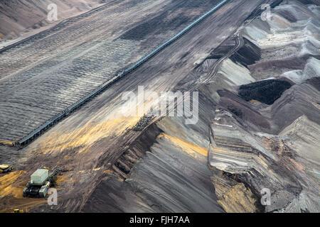 Garzweiler surface mine von Braunkohle, Braunkohle - Stockfoto